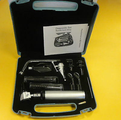ENT Opthalmoscope Ophthalmoscope Otoscope Nasal Larynx Diagnostic Set Kit CE UK