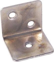 10 x angle bracket zinc plated 28 mm x 25 mm