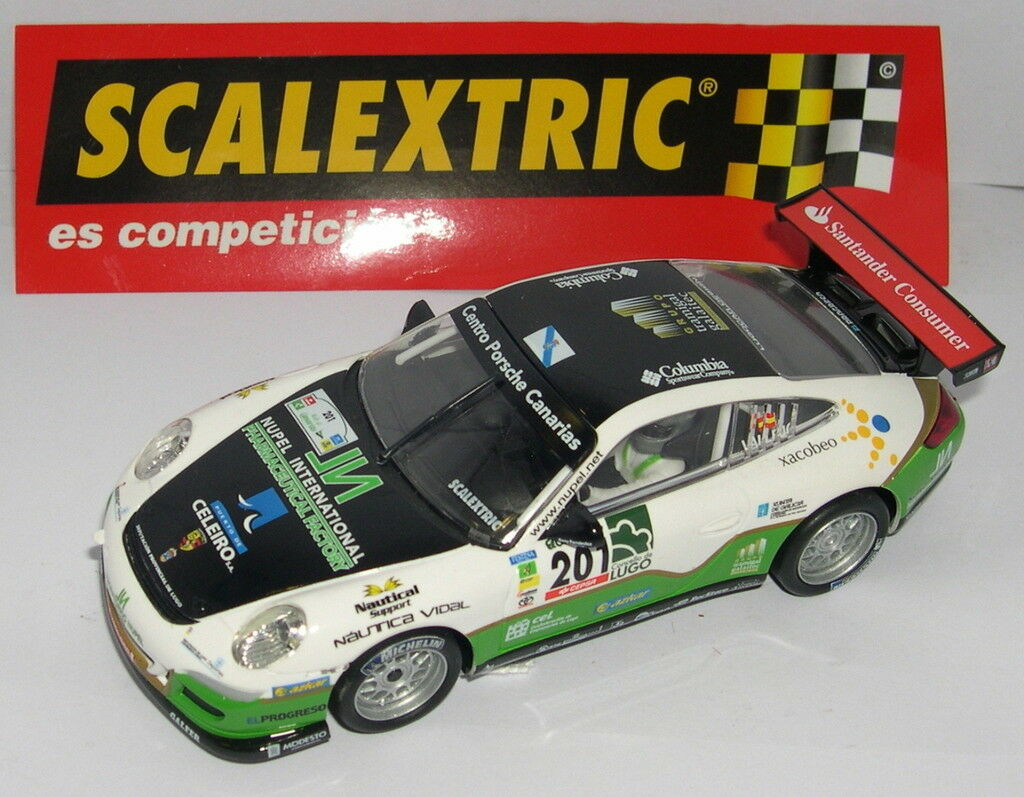 SCALEXTRIC SPAIN ALTAYA CAMP.DE RALLY PORSCHE 911 GT3 S.VALLEJO-D.VALLEJO MINT