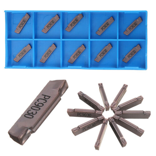 10Pcs MGMN200-G LDA Lathe Carbide Inserts CNC Grooving Turning Tool Set HD