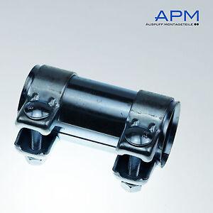 1-St-Auspuff-Universal-Rohrverbinder-65x-69-5x-125mm-Doppelschelle-BMW-VW-SEAT