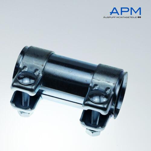 Auspuff Rohrverbinder Doppelschelle Schelle Verbinder Universal Ø 70 x125 mm NEU
