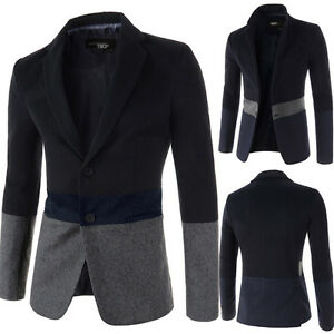 Fashion Slim Fit Stylish Men 3 Colors Blazer Suit Coat Jacket