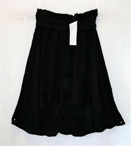 COTTON-ON-Brand-Black-Woven-Romy-Shirred-Midi-Skirt-Size-XS-BNWT-TI05
