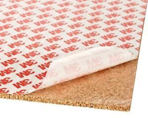 Selbstklebende Korkplatte | Pinnwand Kork mit Kleber, groß | 5mm | 3M Klebefolie