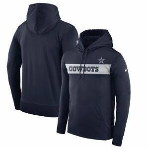 Dallas Cowboys Men s Nike Sideline Pullover Hooded Sweatshirt - Navy ... 6498eda59
