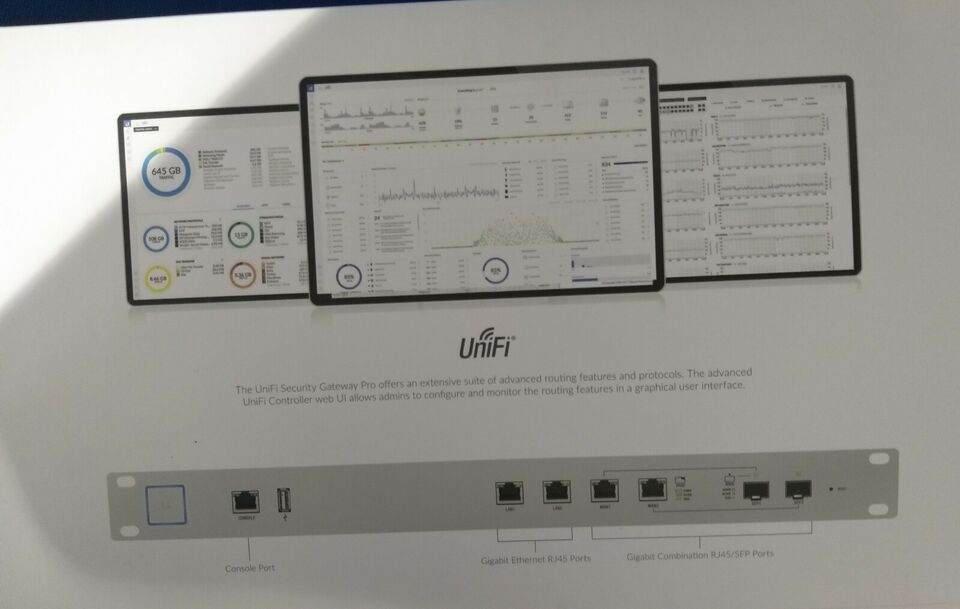 Andet, wireless, HELT NY Unifi security gateway pro