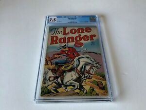 FOUR-COLOR-167-CGC-7-5-LONE-RANGER-SILVER-DELL-COMICS-1947