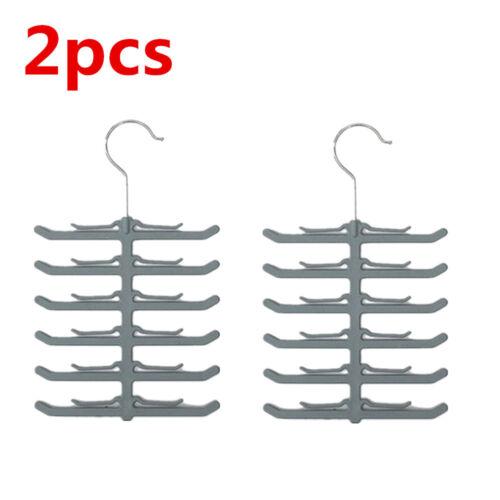 Useful Necktie Tie Belt Hanger Fishbone Rack Shawl Scarf Clip Holder Organizer