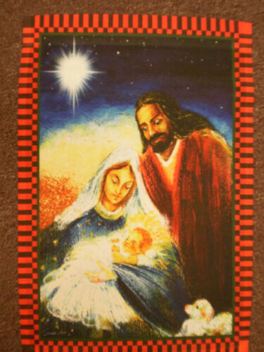 "#JDY NATIVITY MARY JOSEPH JESUS Religioso Natale 12/""x18/"" Giardino Flag Banner"
