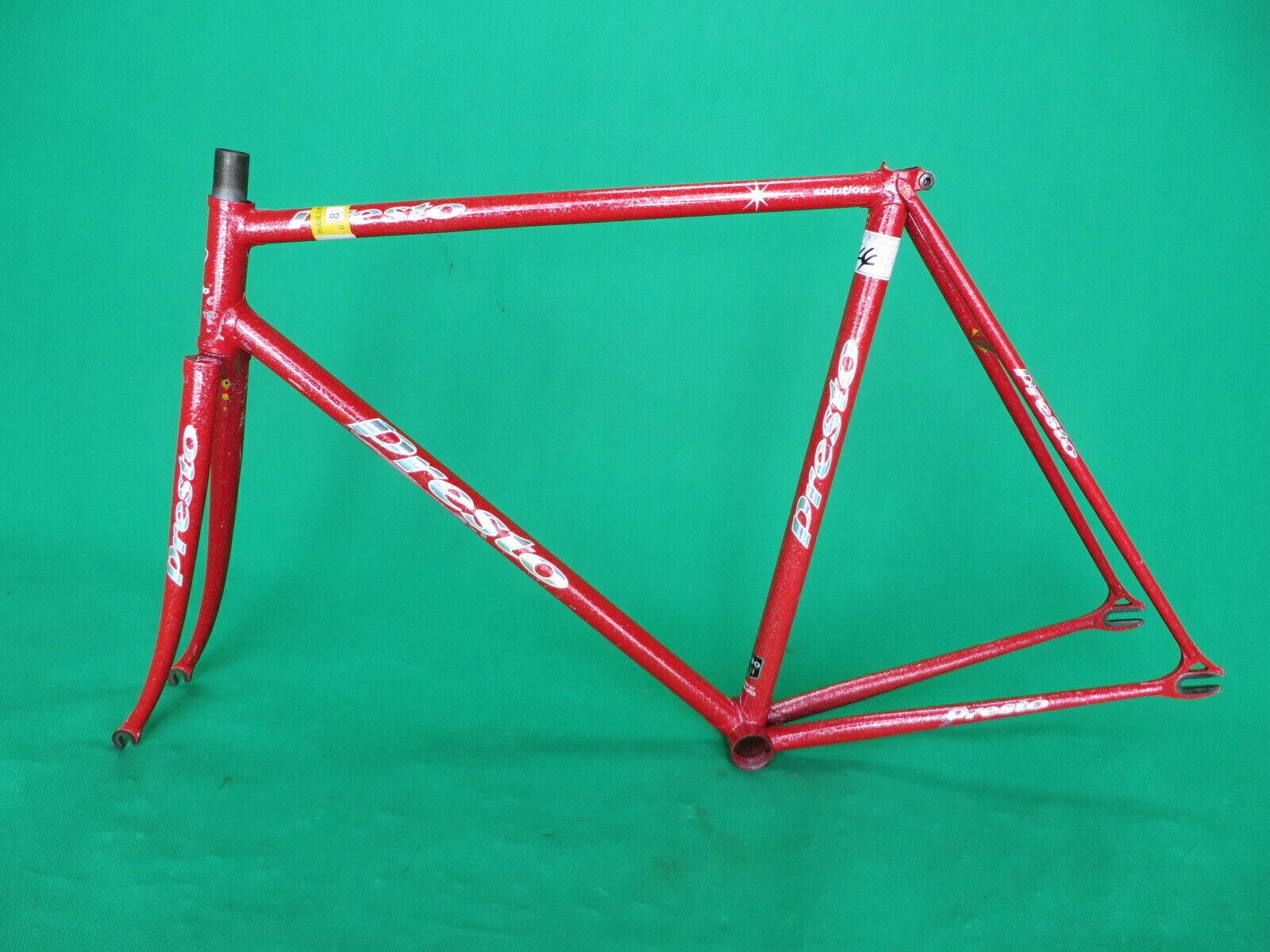 Presto NJS Keirin Frame Conjunto de pista de Bicicleta Fixie Kaisei 8630 019 tubería 52.5cm