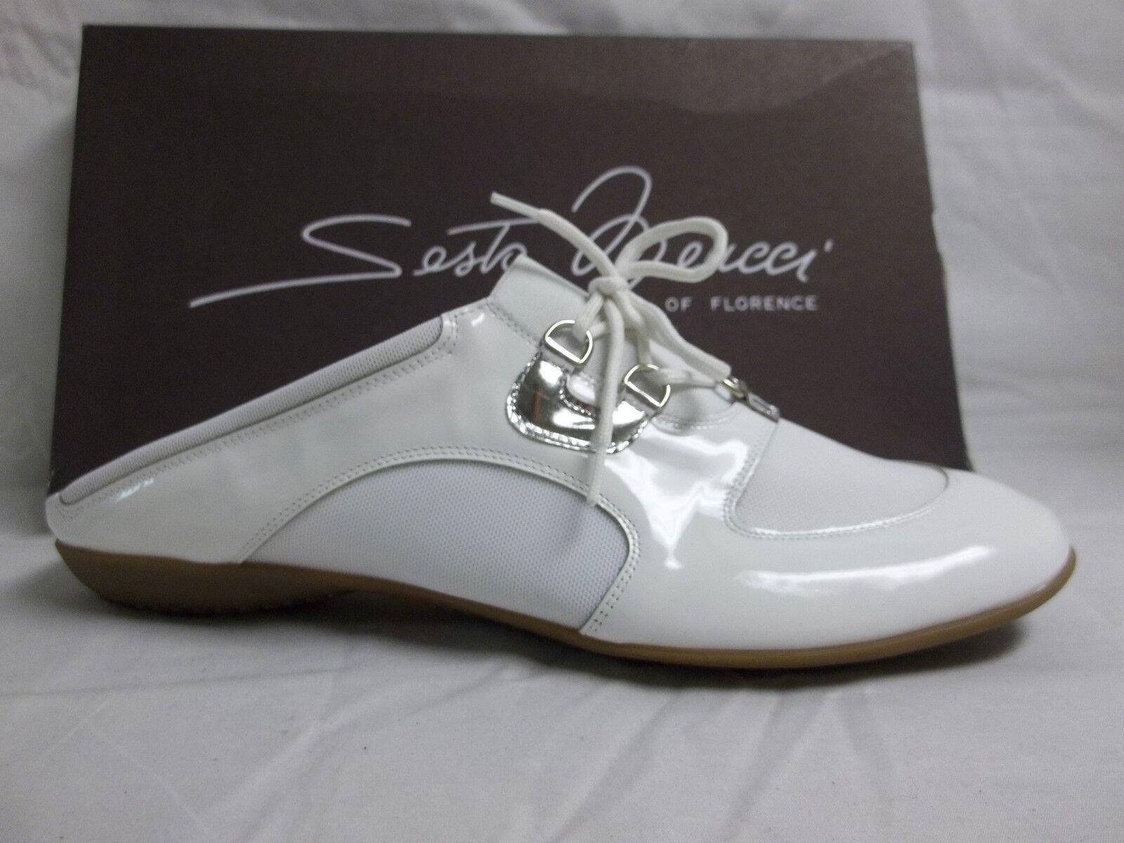 Sesto Meucci Of Florence Sze 7.5 M Brenda Patent Leder Slides NEU Damenschuhe Schuhes