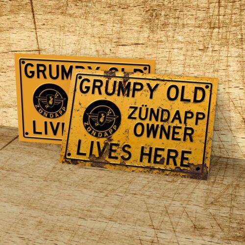 man cave Grumpy old Zündapp owner lives here sign for garage