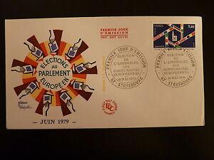 France Premier Jour Fdc Yvert 2050 Elections Europeennes 1,20f Strasbourg 1979