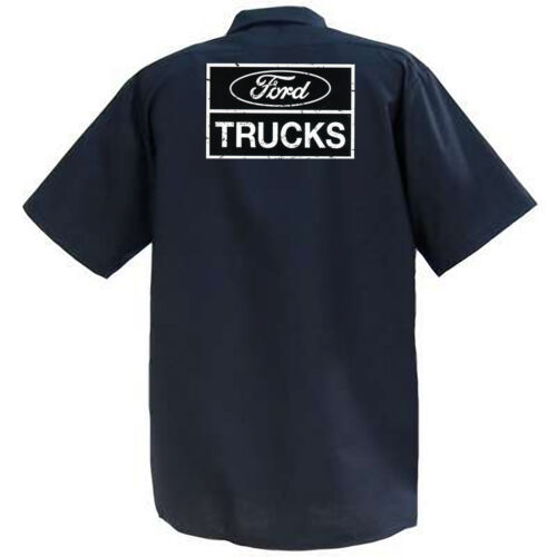 Ford Trucks II Mechanics Graphic Work Shirt  Short Sleeve