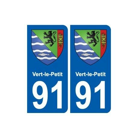 91 Vert-le-Petit blason autocollant plaque stickers ville droits