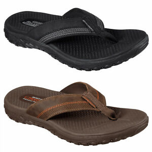 Details about Skechers Relaxed Fit: Reggae-Cobano Flip Flops Mens Toe Post  Thong Sandals 65460