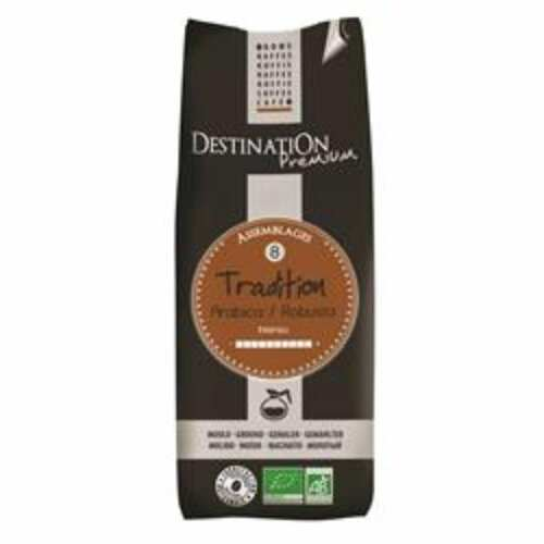 Destination Organic and Medium Roast Ground Tradition Coffee 250g