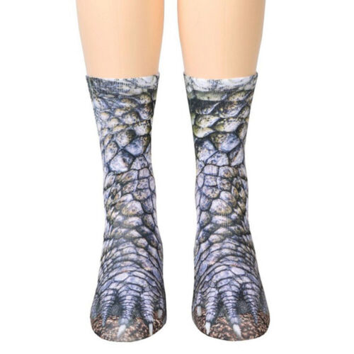 Trendy 3D Animal Print Sock Women Unisex Adult Kid Paw Crew Funny Cotton Sock BY