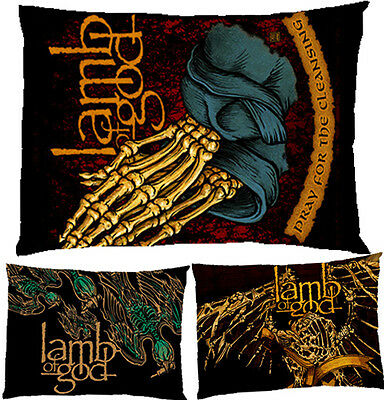 """Lamb Of God Metal Band Rock Pillow Case Cover Bedding 30"""" x 20"""" Gift"""