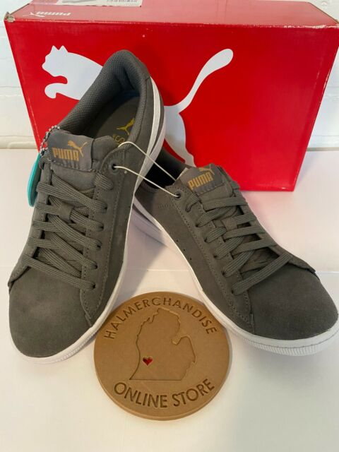Women/'s 6 PUMA Ladies Vikky Suede Athletic Sneakers Shoes Size Grey NEW