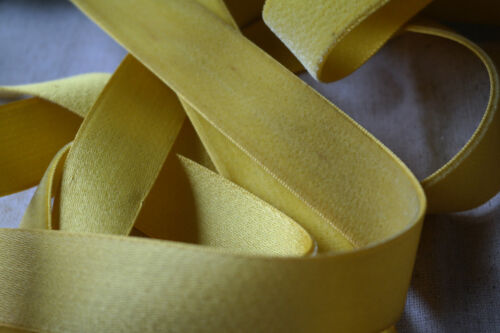"bty yellow velvet Swiss 1/"" rayon ribbon trim Millinery hat doll dress"