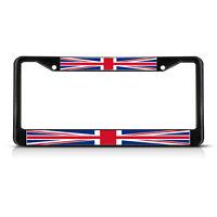 British Flag United Kingdom Black Heavy Duty Metal License Plate Frame