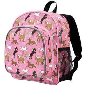 Image is loading Wildkin-Pink-Horses-Toddler-Bacpacks-Horses-Girls-Backpack- 5d016dc961