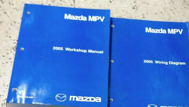 2005 Mazda Mpv Van Service Repair Workshop Shop Manual Set W Etm Water Damage 05