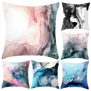 FJ-FT-Christmas-Marble-Pattern-Cushion-Cover-Throw-Pillow-Case-Home-Sofa-Bed-D