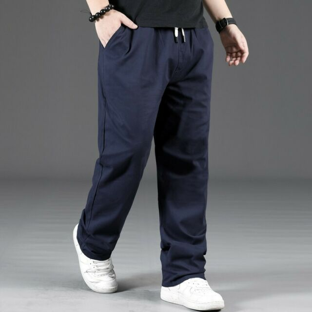 Coolred-Men Vintage Chinese Style Pure Color Harem Pocket Leisure Casual Pants