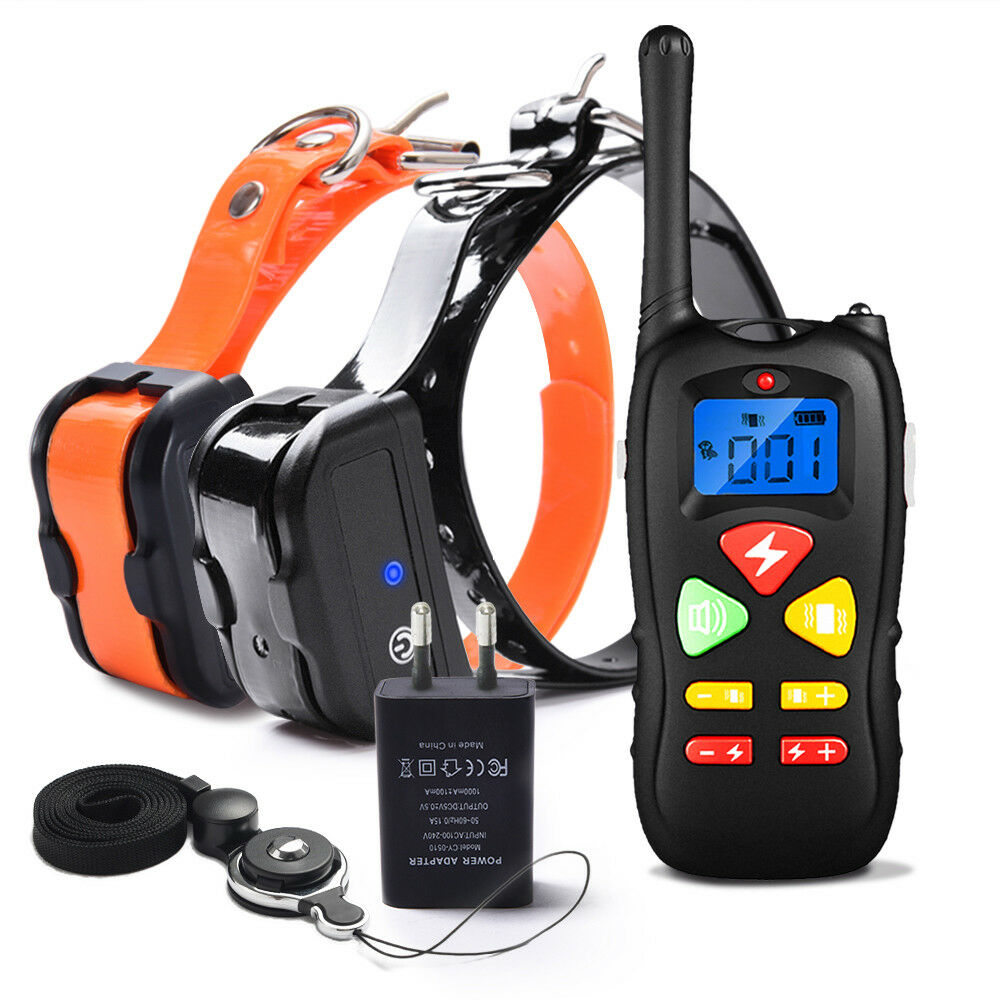 Dog Training Shock Collar 1500ft Remote Waterproof & Rechargeable Beep Vibration