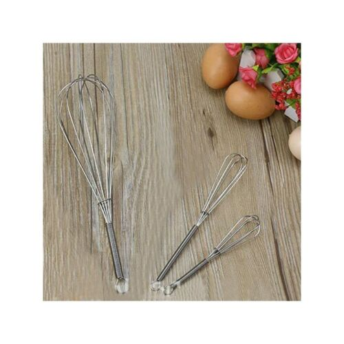 Durable Handle Whisk Stainless Steel Home Kitchen Balloon Wire Egg Beater Tool