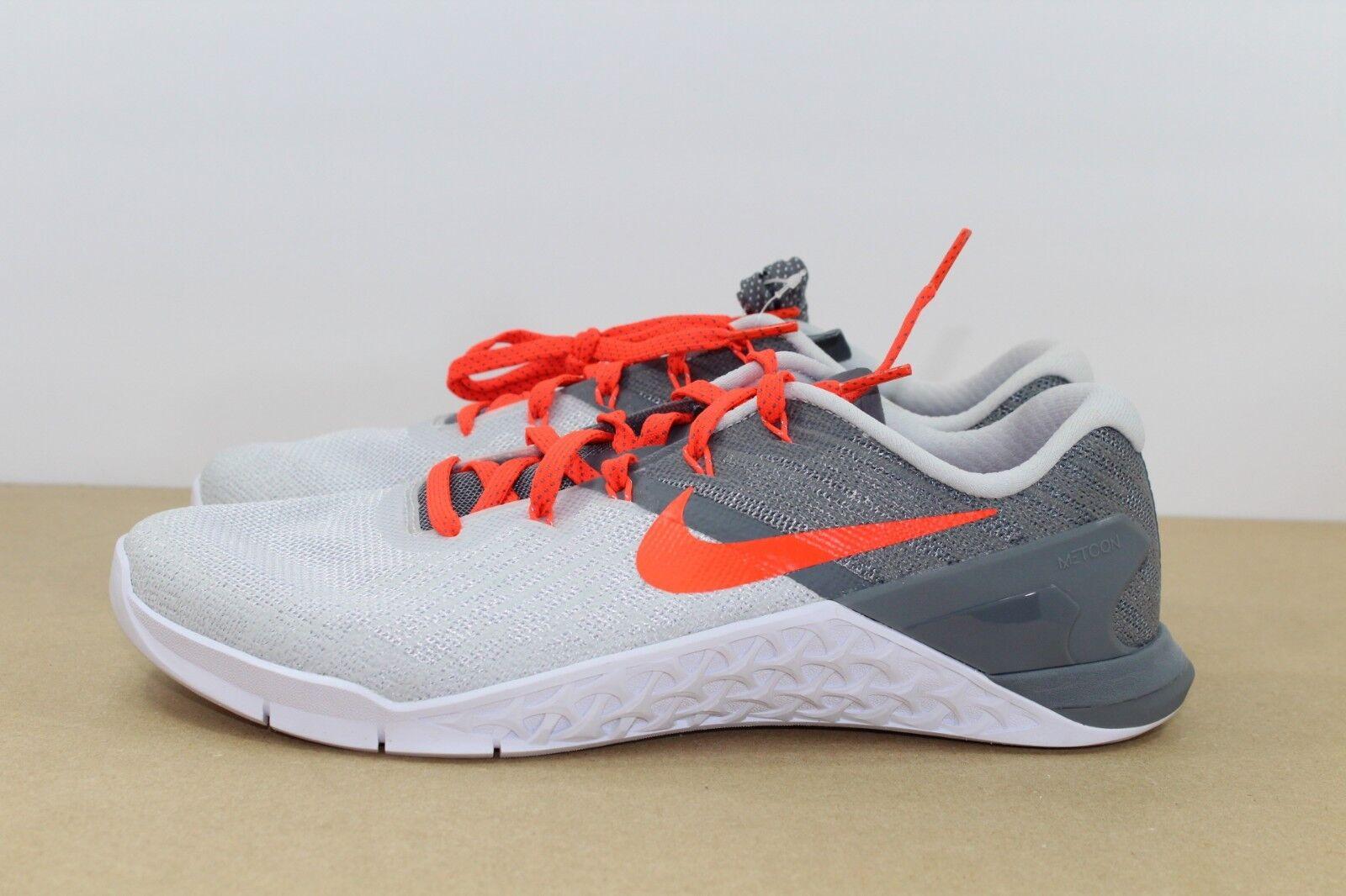 Nike Metcon 3 Running training shoes Platinum Crimson 849807-006 Size 9.5