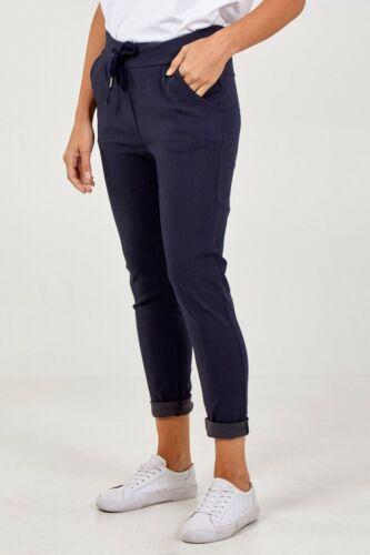 Femmes Bleu Marine Magic Pantalon de survêtement taille plus Italie XL conviendra UK 16-20