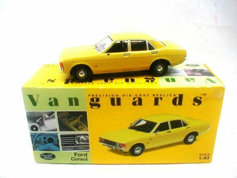 Corgi Vanguards Ford Consul  Daytona Yellow VA05502