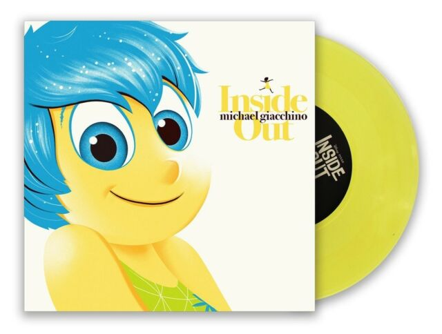 "SDCC LE Inside Out Mondo Soundtrack-7"" (Set of 4) JOY, SADNESS, ANGER and FEAR!"