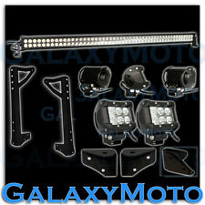 "Jeep JK Wrangler 50"" LED Light Bar Combo Beam+3"" LED Adjustable SPOT+Bracket"
