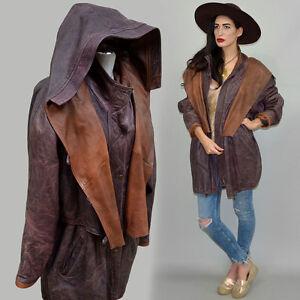 Reserved-for-VP007-Vintage-Cowl-Parka-Leather-Antique-Patina-Hooded-Cape-Coat
