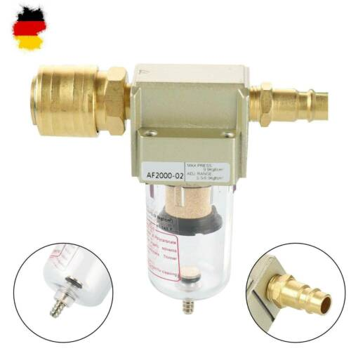 Druckluftfilter Wasserabscheider Öler Filter Kompressor Ölabscheider 1//4 Zoll DE