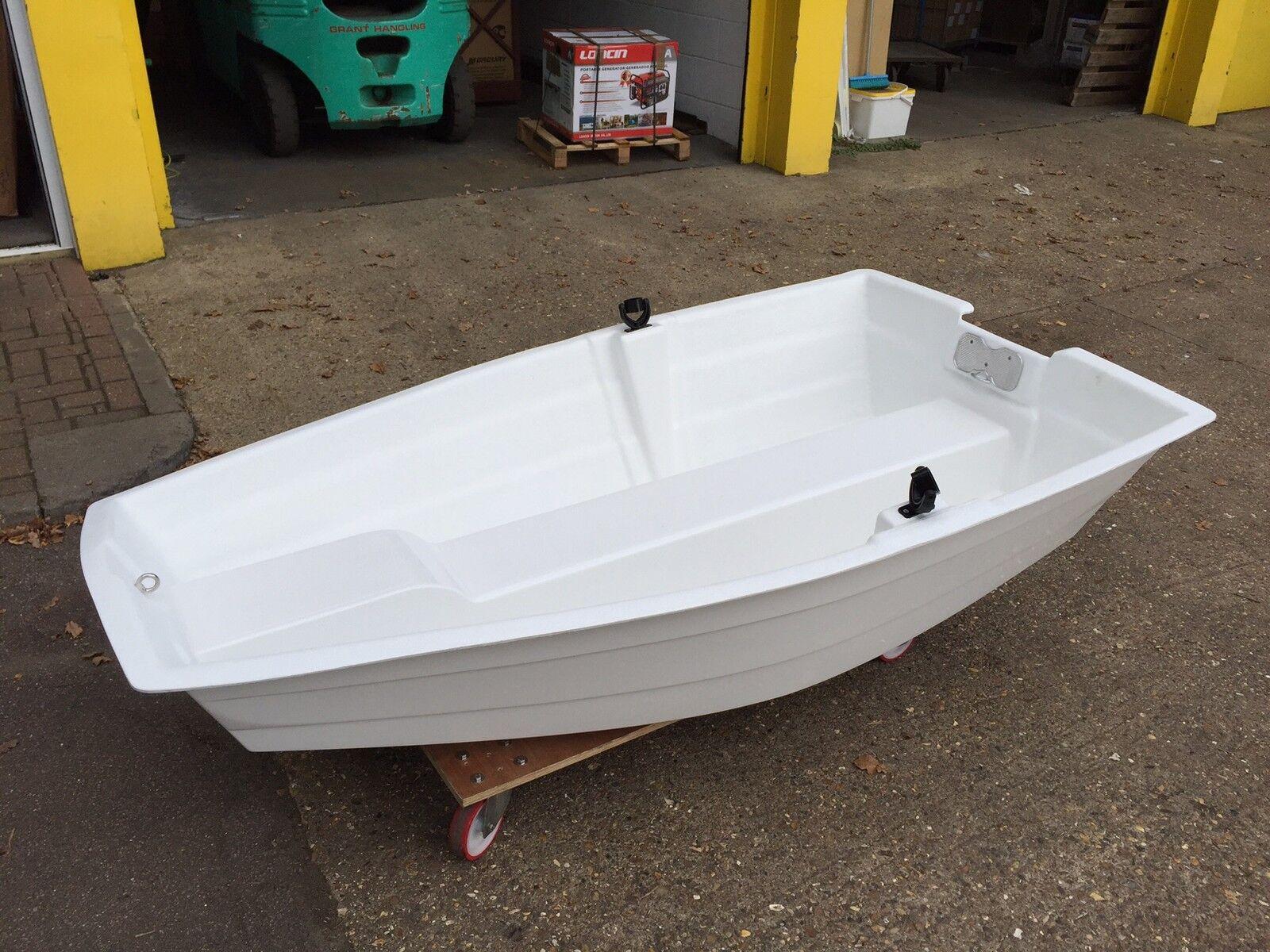 TO CLEAR Fibreglass Pram Dinghy Rowing Boat 2 m 6' 8  Row Motor Tender Pond