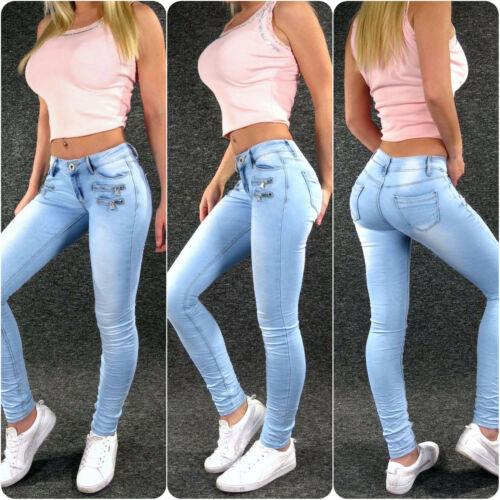 ZAZOU Hüftjeans Jeans Femmes XS S M L XL Skinny Stretch Low Waist Hanche Jeans 813 a