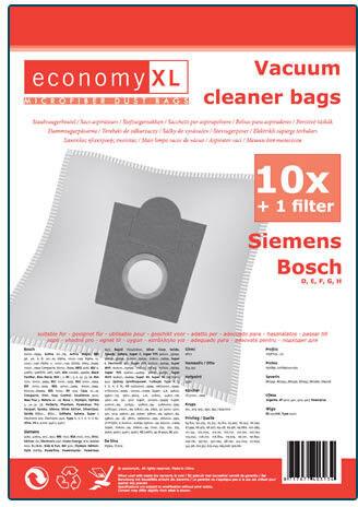 10 Staubsaugerbeutel Economy geeignet für Siemens Electronic 1100
