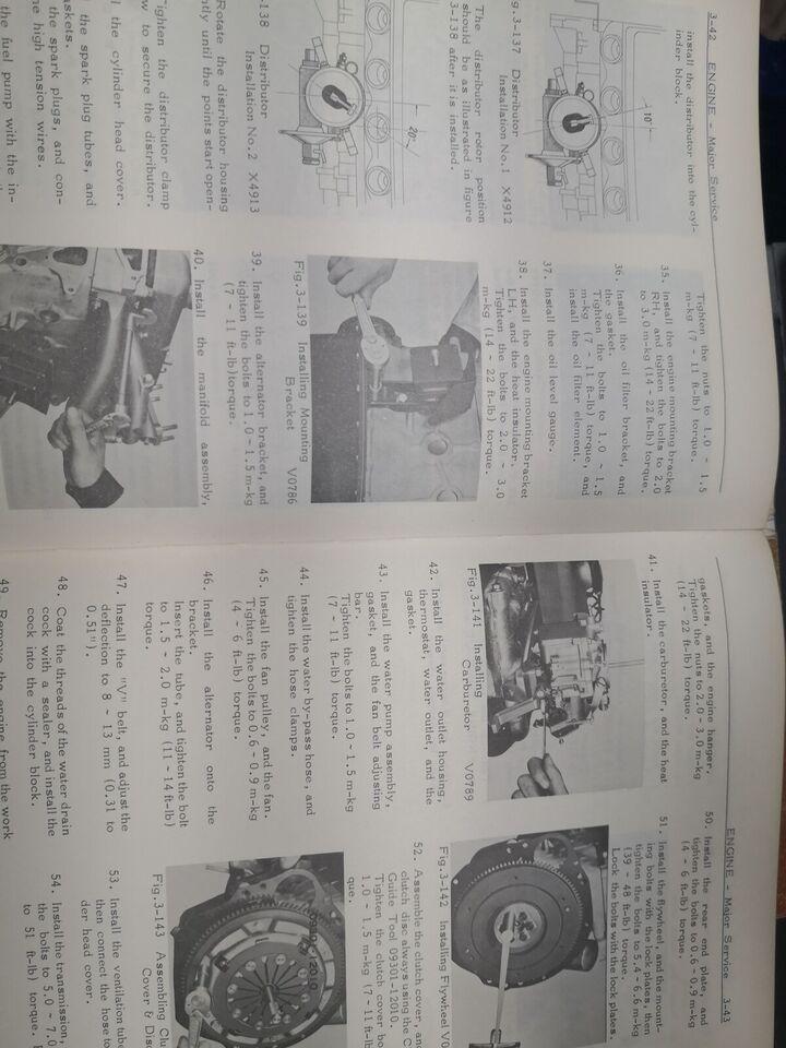 Reparationsbog, Toyota Corolla K-motorbog