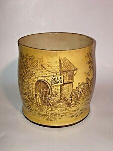Vintage Blue Boar Tobacco Jar Old Ceramic Pottery Stoneware See pics Make offer!