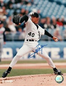 Jim-Parque-Signed-8X10-Photo-Autograph-White-Sox-Leg-In-Air-Home-Auto-COA