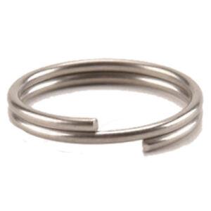 100 Stück Schlüsselringe 8mm vernickelt gehärtet Schlüsselring Split Key Ring