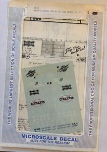 MICROSCALE N SCALE - ASST BOX CARS: C&NW, FRISCO (SLSF), NYC, BAR R/W/B #60-58