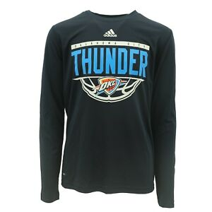 official photos dea44 a0a15 Details about Oklahoma City Thunder NBA Adidas Climalite Youth Size Long  Sleeve Shirt New Tags