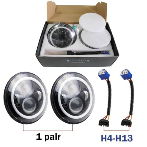 7/'/' Round LED Headlights Halo Ring DRL Hi//Lo Beam For Chevrolet G10 20 30 C10 20